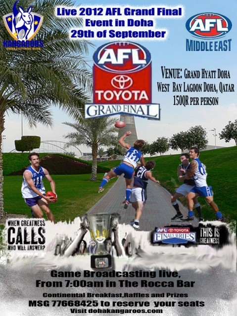 The AFL Grand Final Breakfast is on again.